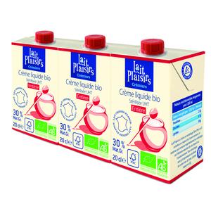 Crème liquide entière 3x20cl LAIT PLAISIRS