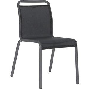 Chaise Oskar Stern en aluminium graphite au coloris gris argent 547731