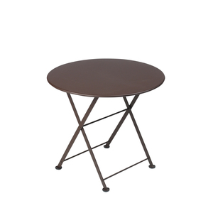 Table basse en acier couleur Rouille