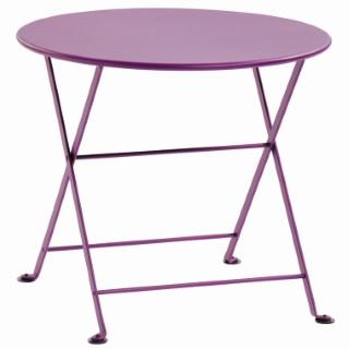Table basse en acier couleur Aubergine