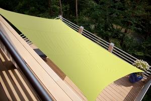 Voile ombrage rectangulaire vert 3 x 2m