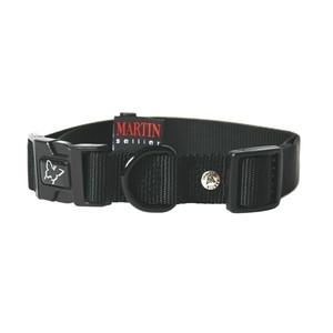 Collier chien réglable 16mm / 30-45cm noir 558458