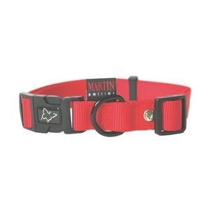 Collier chien réglable 25mm / 45-65cm rouge