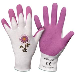 Gants jardinage femme violet T. 8