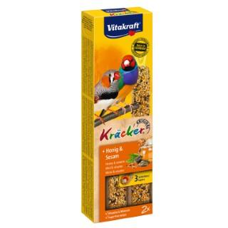 Kräcker Oiseaux x2 miel Vitakraft 59g - pour oiseaux exotiques 56908