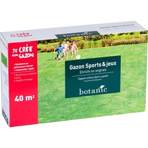 Gazon sports et jeux Botanic 40 m²
