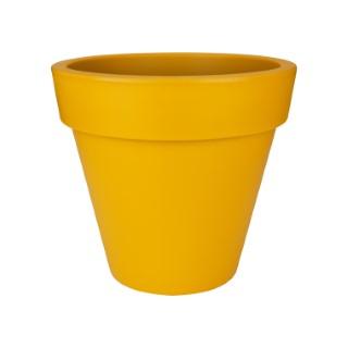 Pot pure round Elho jaune petit modèle Ø 40 x H 36 cm 577657