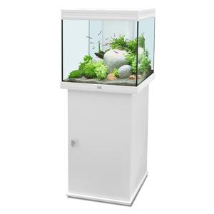Aquarium elegance 58 blanc 95l aquariums animalerie for Aquarium botanic