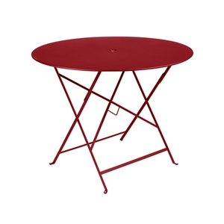 Table de jardin ronde pliante Bistro FERMOB piment 96 x h 74 cm 583407