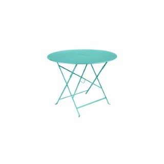 Table de jardin ronde pliante Bistro FERMOB bleu lagune 96 x h 74 cm 583410