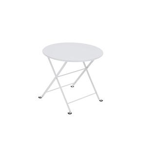 Table basse ronde Tom Pouce Blanc coton 55 x 48 cm 583418