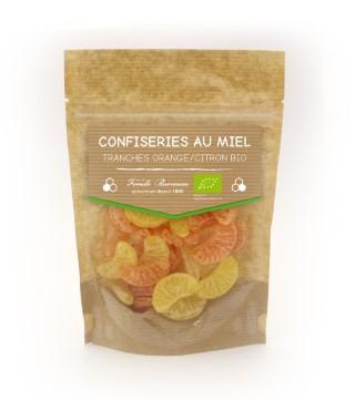 Bonbons au miel bio goût orange et citron de 120 g 58832