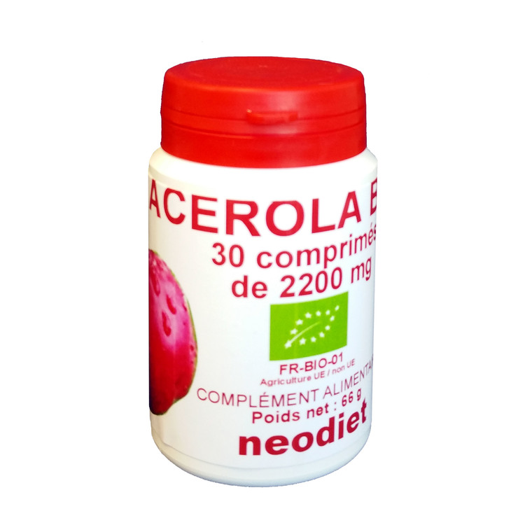 Acérola 1000 bio en boite de 30 comprimés 50134