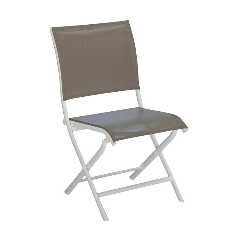 Chaise Élégance en aluminium marron 92 x 49 x 60 cm 501729