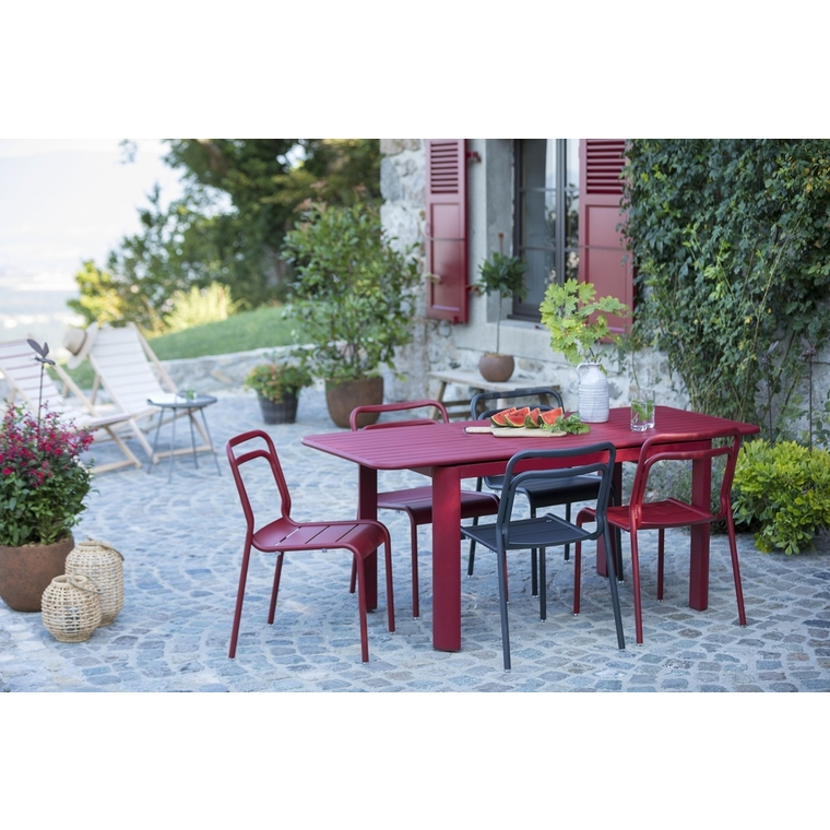 Table rectangulaire à rallonge Oro rouge 180/240 x 100 cm 501742