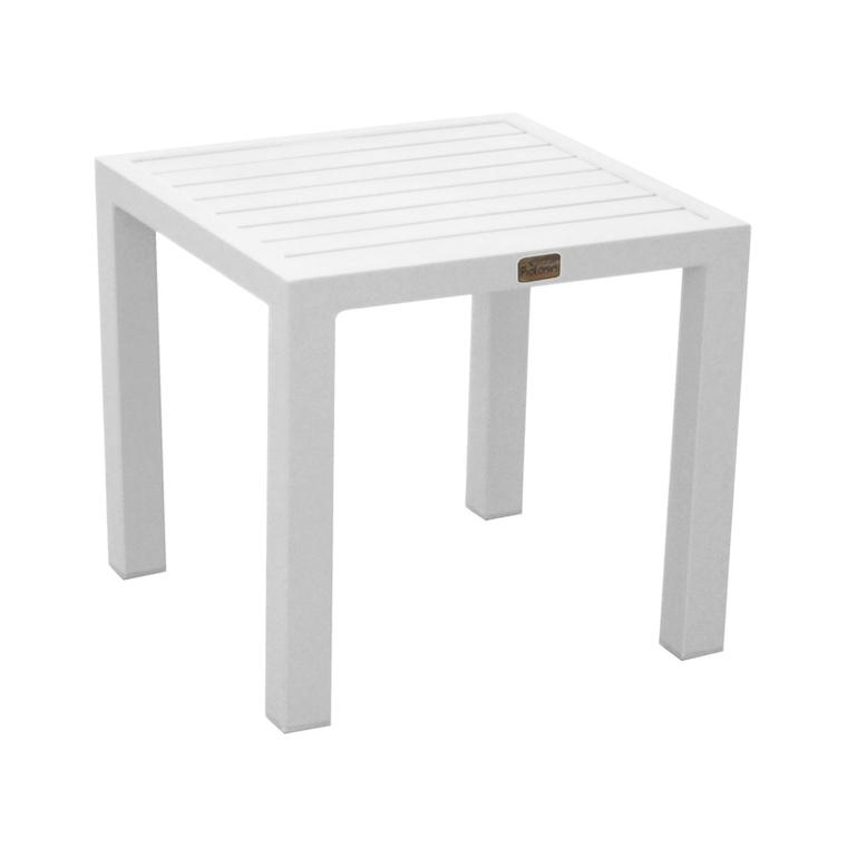 Table basse en aluminium coloris gris clair 40 x 40 x 36 cm 501746