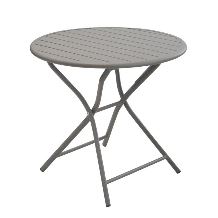 Table pliante ronde Max taupe Ø 80 x 74 cm 501821