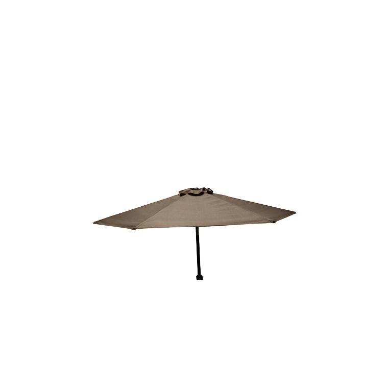 Parasol inclinable à manivelle taupe Ø 250 cm 505475