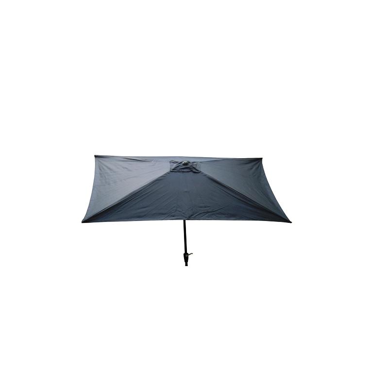 Parasol rectangulaire inclinable à manivelle gris ardoise 200 x 300 cm 505480
