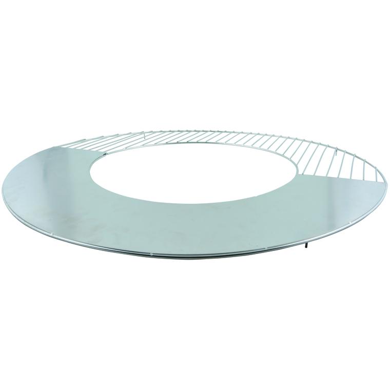 Grille et plaque chauffante pour barbecue  Ø 58 cm 506777