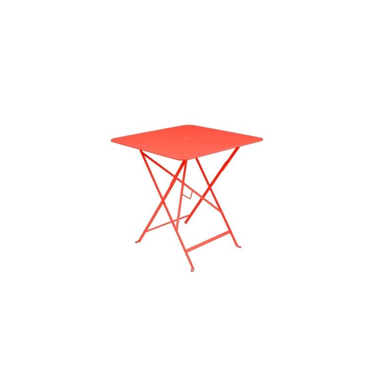 Table pliante en métal BISTRO couleur muscade L71xl71xh74 507553