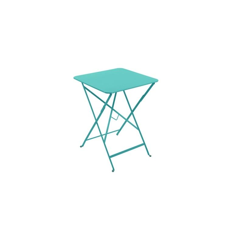 Table Pliante Bistro FERMOB bleu lagune L57xl57xH74 509277