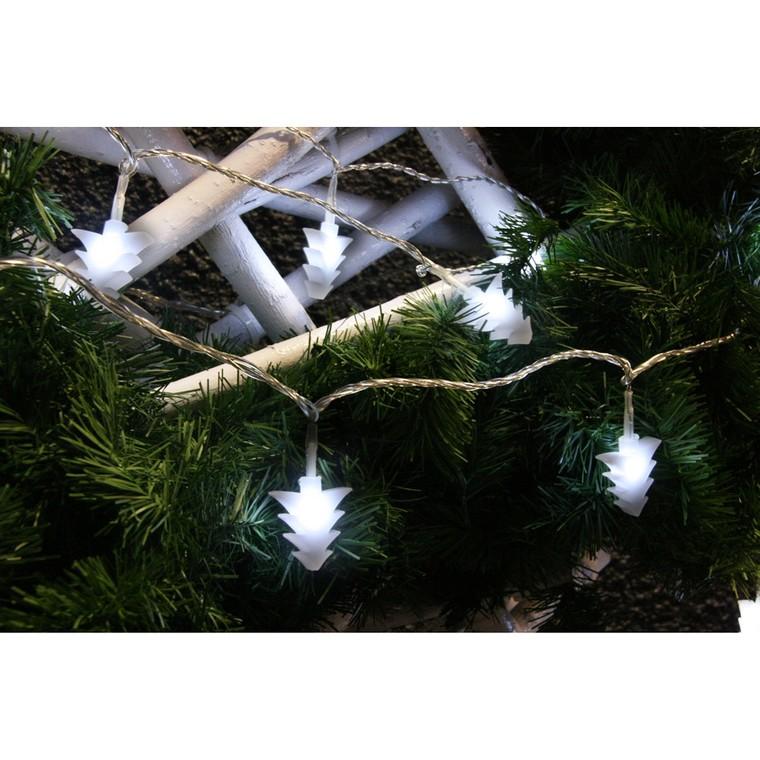 Guirlande lumineuse 20 sapins opales LED blanc 3 m 51887