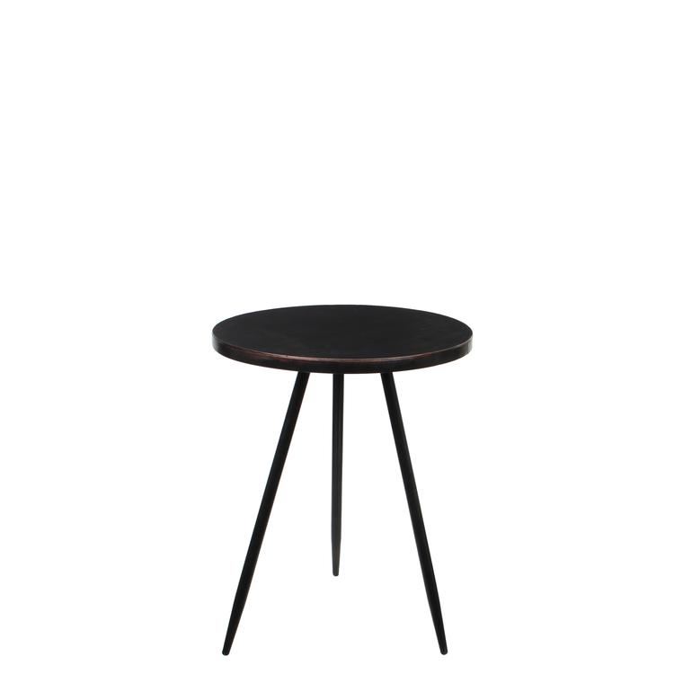 Selette ronde en métal noir Ø 40 x H 51,5 cm 528400