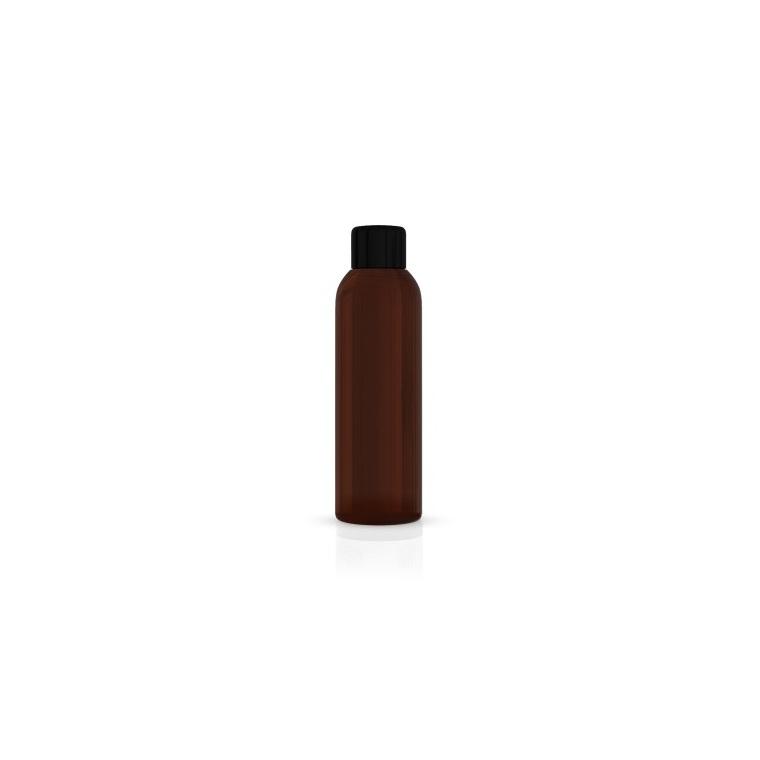 Flacon brun avec capsule à visser et réducteur de 100 ml 533859