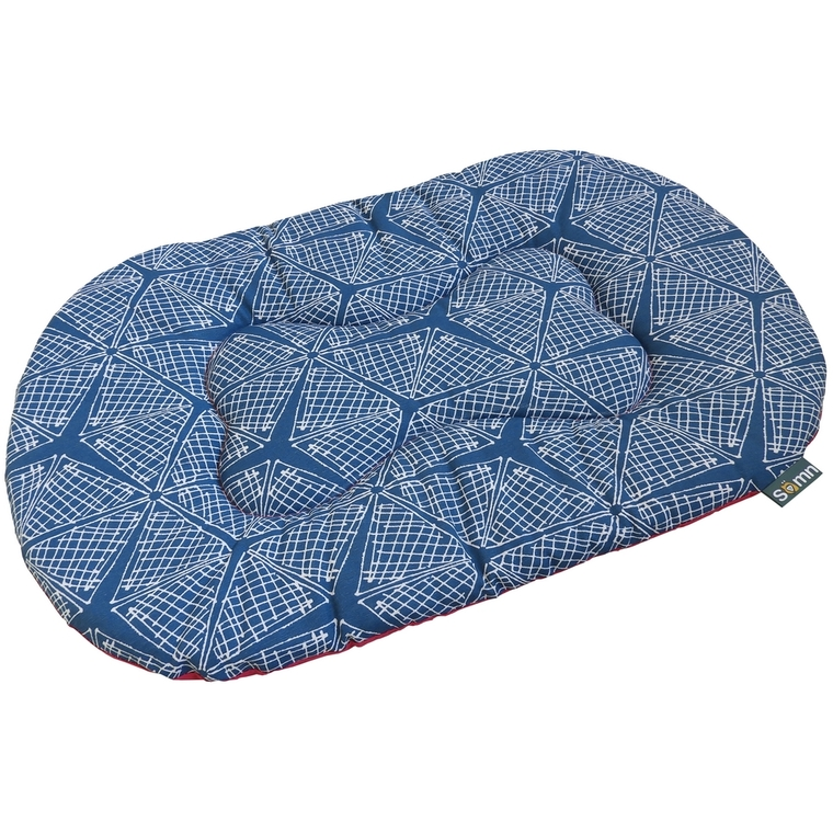 Coussin ovale pour chien Comfort pink spider Somn en tissu bleu 70 cm 535372