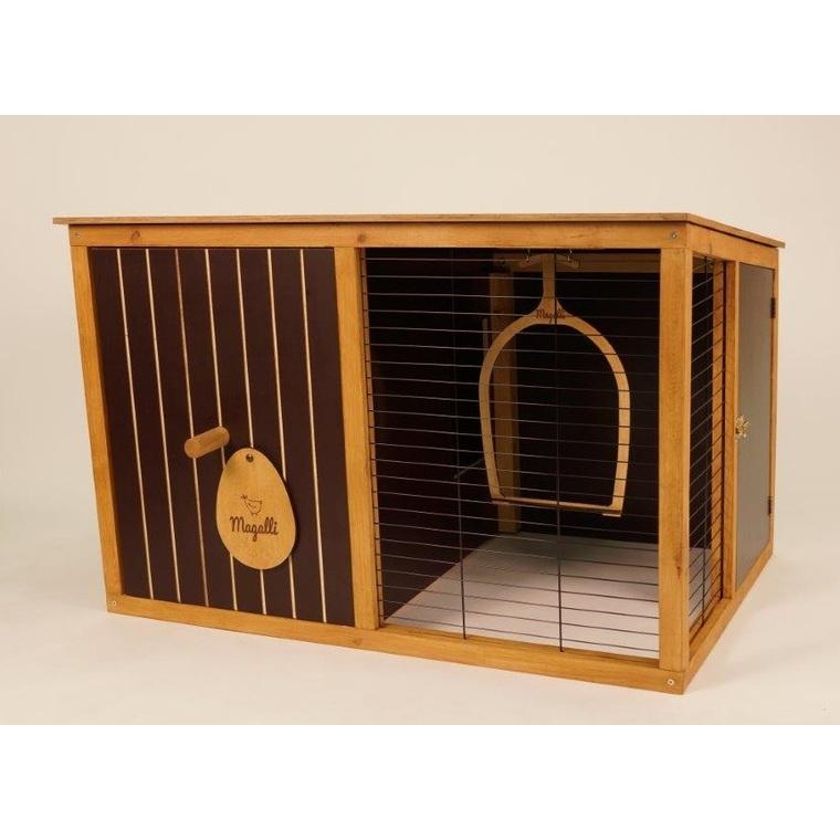 Poulailler La maison Magalli en bois 118x78x78 cm 536434