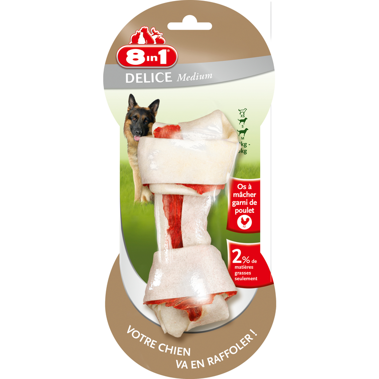 Friandise pour chien 8in1 Delights taille M 557492
