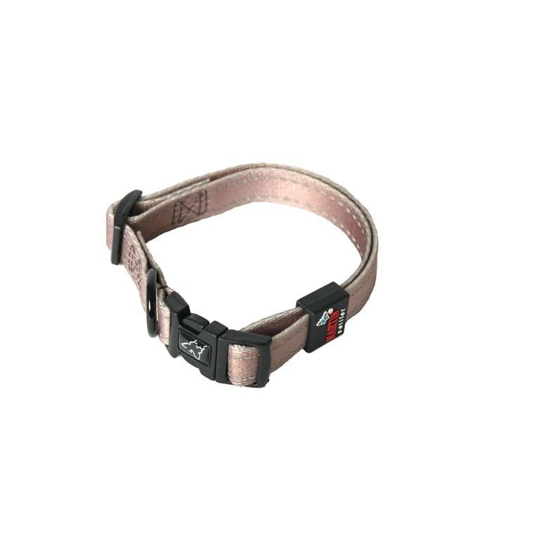 Collier chien réglable 25mm / 50-65cm choco 558340