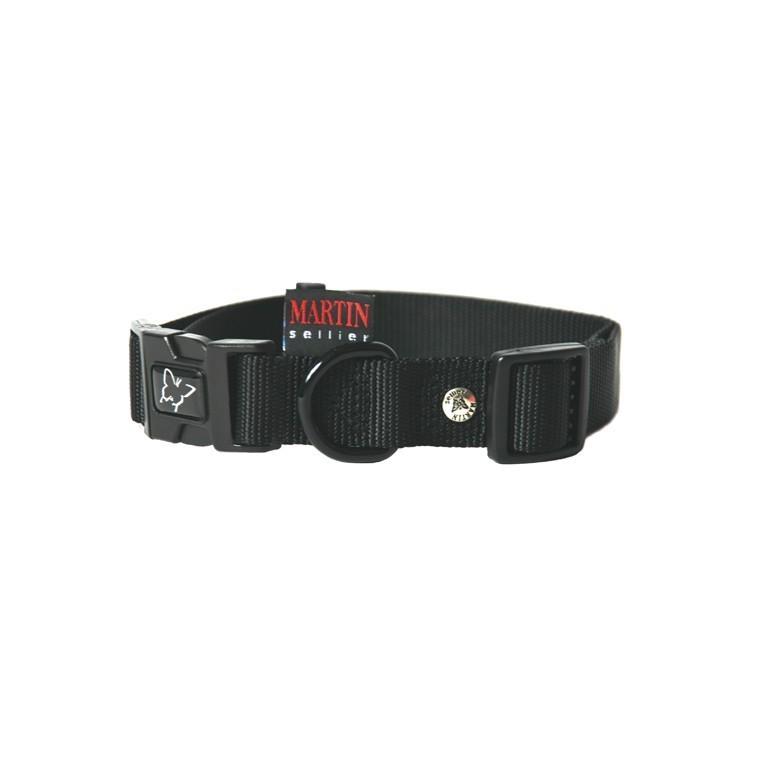 Collier chien réglable 25mm / 45-65cm noir 558466