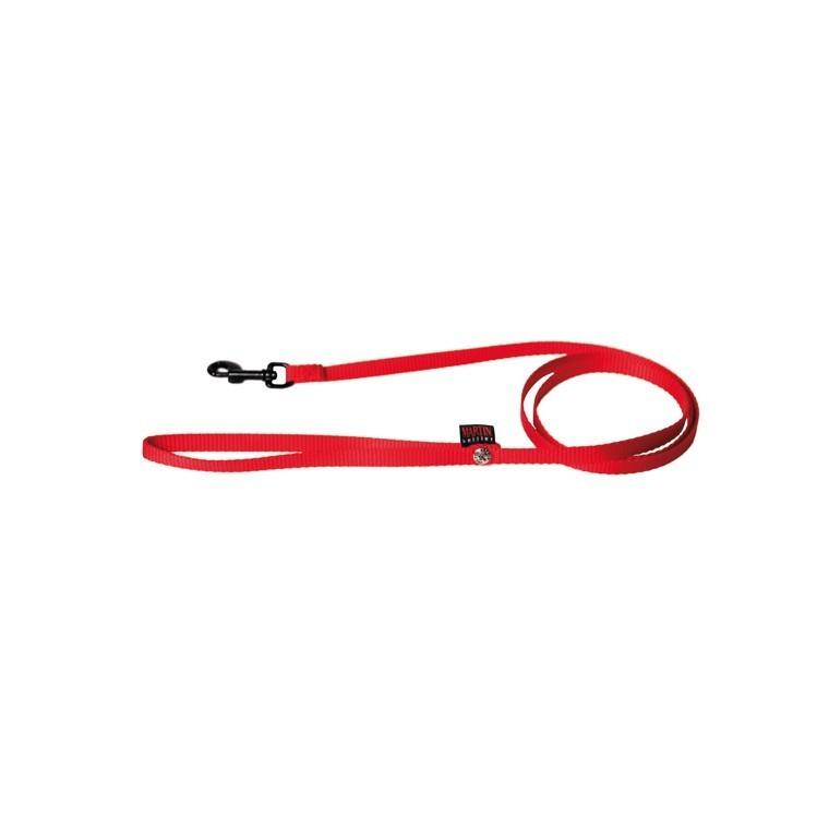 Laisse chien nylon 10mm / 120cm rouge 558484