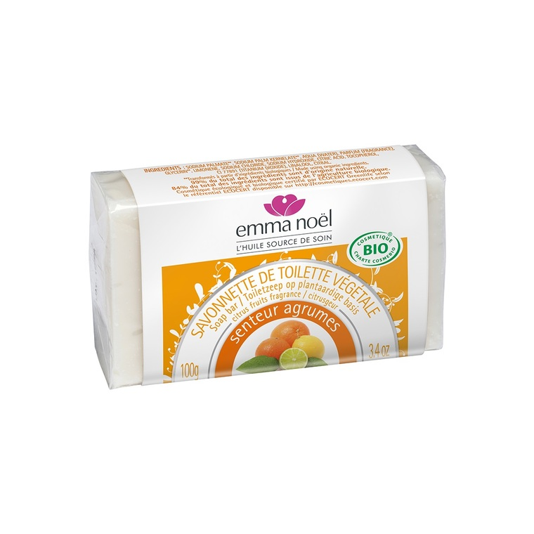 Savon aux agrumes cosmebio en format de 100 g 560040