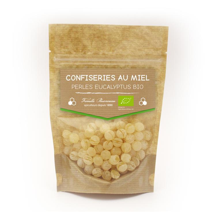 Bonbons au miel bio goût perles d'eucalyptus de 120 g 58833