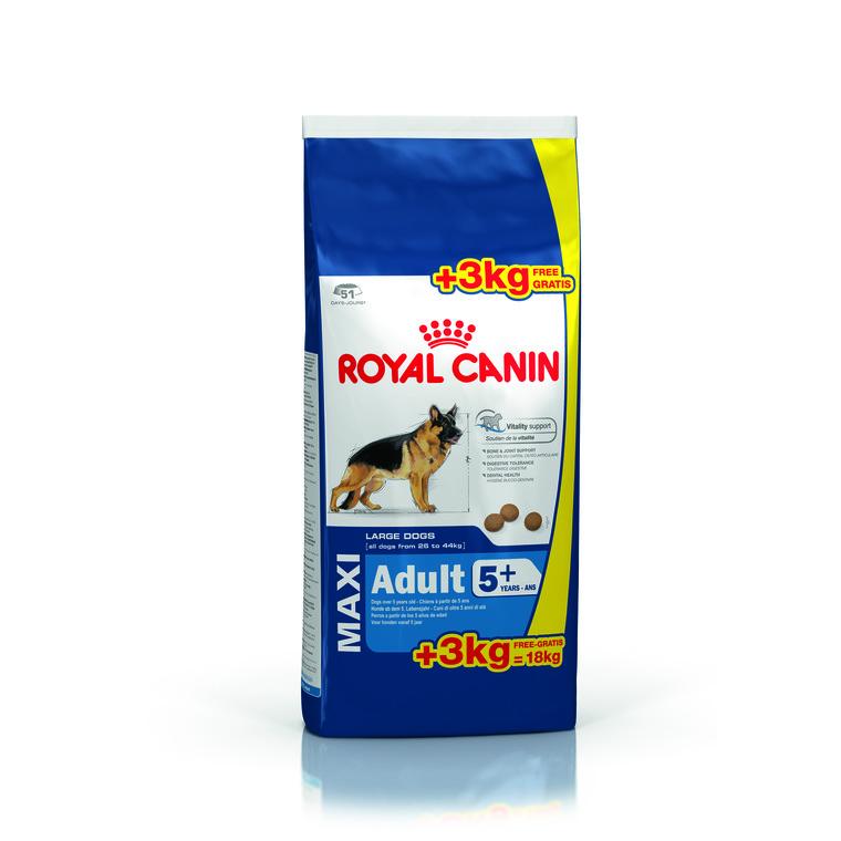 Adult 5+ royal canin 18 kg dont 3 kg offerts