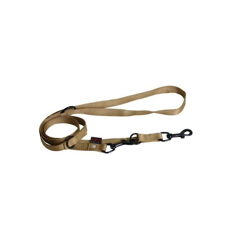 Laisse chien dressage 3pt 20 mm / 200 cm beige