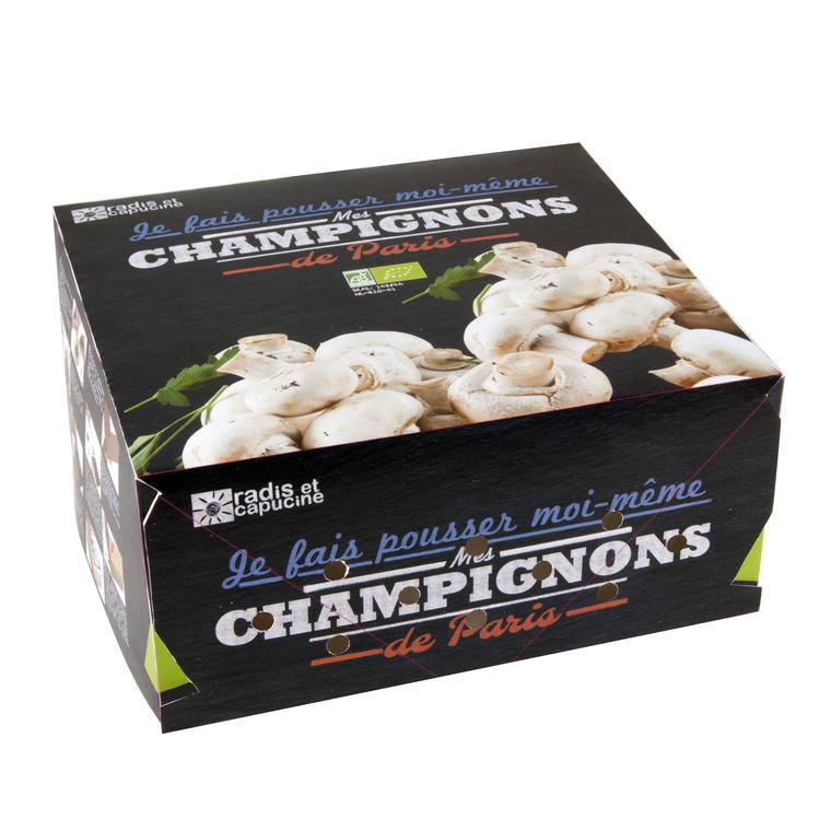 Kit de culture pour champignons blancs de paris bio 30x27x16 cm