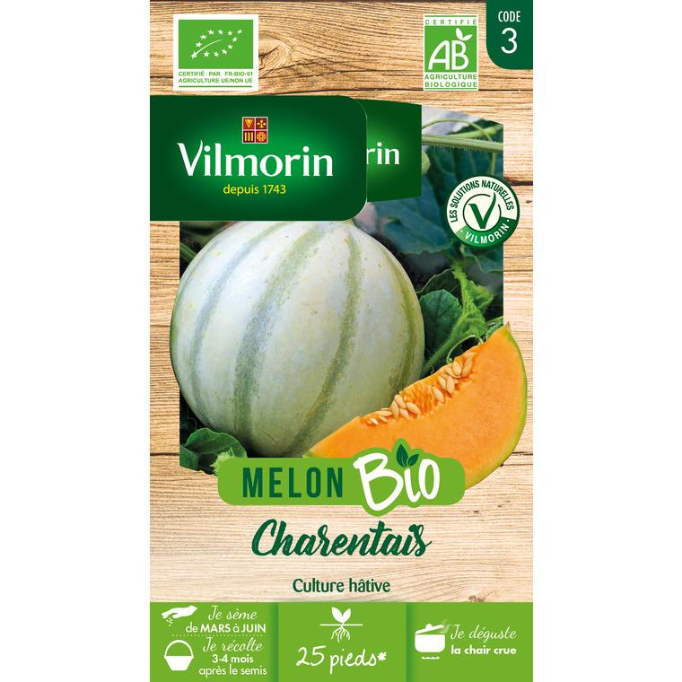 Sachet de graines de melon charentais Bio