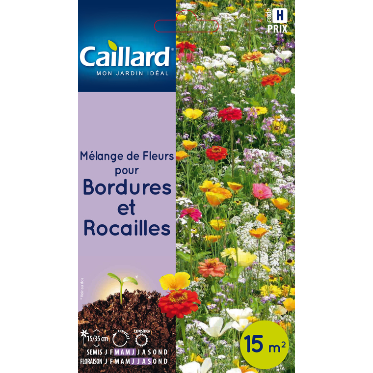 Sachet Mélange de fleurs pour bordures et rocailles multicolore