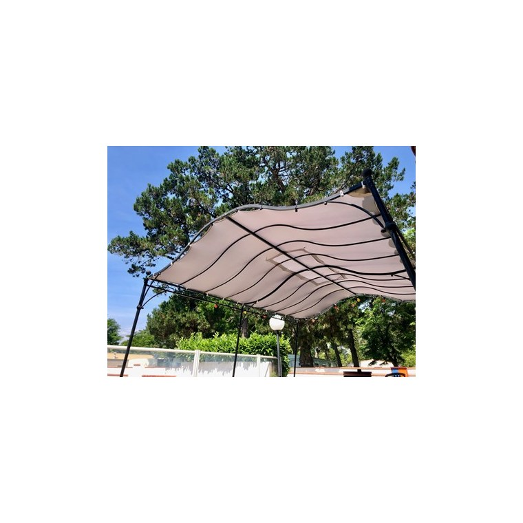 Toile d'ombrage universelle extensible beige - 3x3m