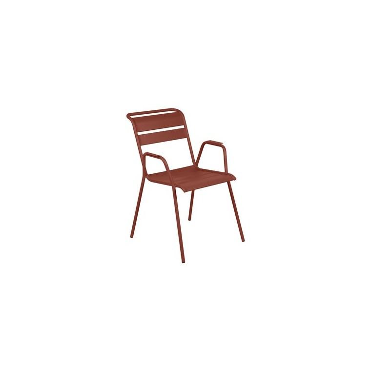 Fauteuil Monceau XL FERMOB ocre rouge L54Xl64,5Xh85