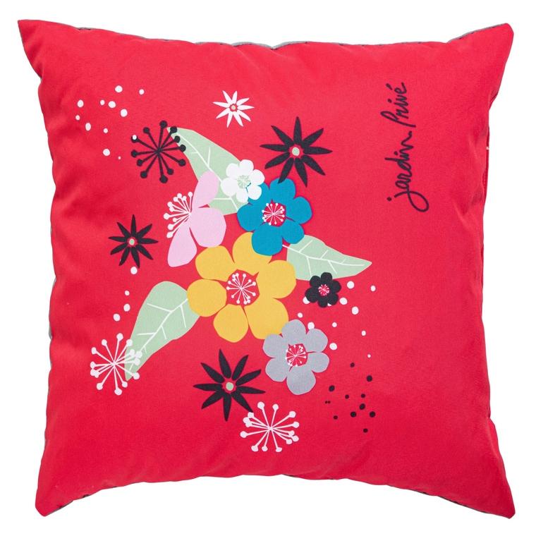 Coussin Floralies Rouge 50 x 50 cm