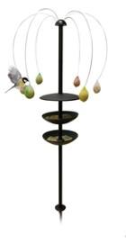 Porte boules de graisse l 39 arborescence d 39 eb ne imp riale oiseaux des jardins jardin botanic - Porte boule de graisse pour oiseaux ...