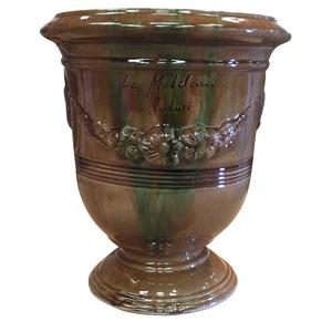 Vase Anduze mini flammé en terre cuite émaillée H 22 x Ø 17 cm