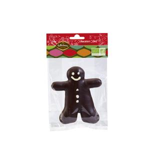 Bonhomme pain d'épice au chocolat noir BELLEDONNE