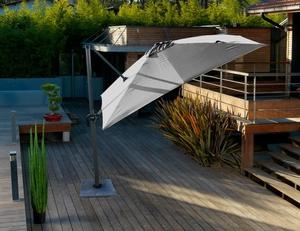 Parasol carré déporté gris