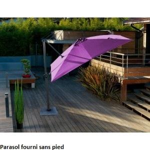 Parasol carré déporté cassis